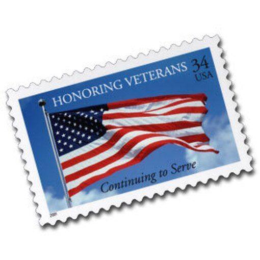 2001 34c Honoring U.S. Veterans, Flag, Continuing to Se
