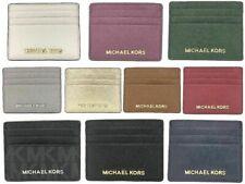 NWT Michael Kors Jet Set Travel Large Leather Credit Card Holder (Select Color)