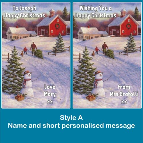 2 X Personnalisé bouteille vin étiquettes Nom Message Secret Santa Cadeau de Noël