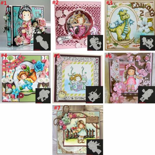 Lovely Girls Metal Cutting Dies Stencil Scrapbooking Photo Decor Embossing Card