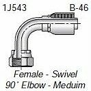 "HF 1J543-10-12 - Parker 1J543-10-12 Fitting 3/4"" Hose X 5/8"" Female Seal-Lok - S"