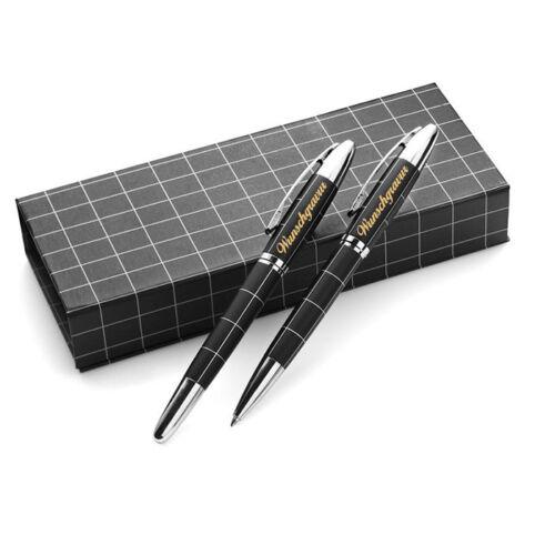 Wunschgravur mit Geschenkbox Kugelschreiber Schreibset inkl