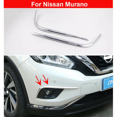 Chromed Headlight Front Light Cover Trims For Nissan MURANO 2015 2016 2017