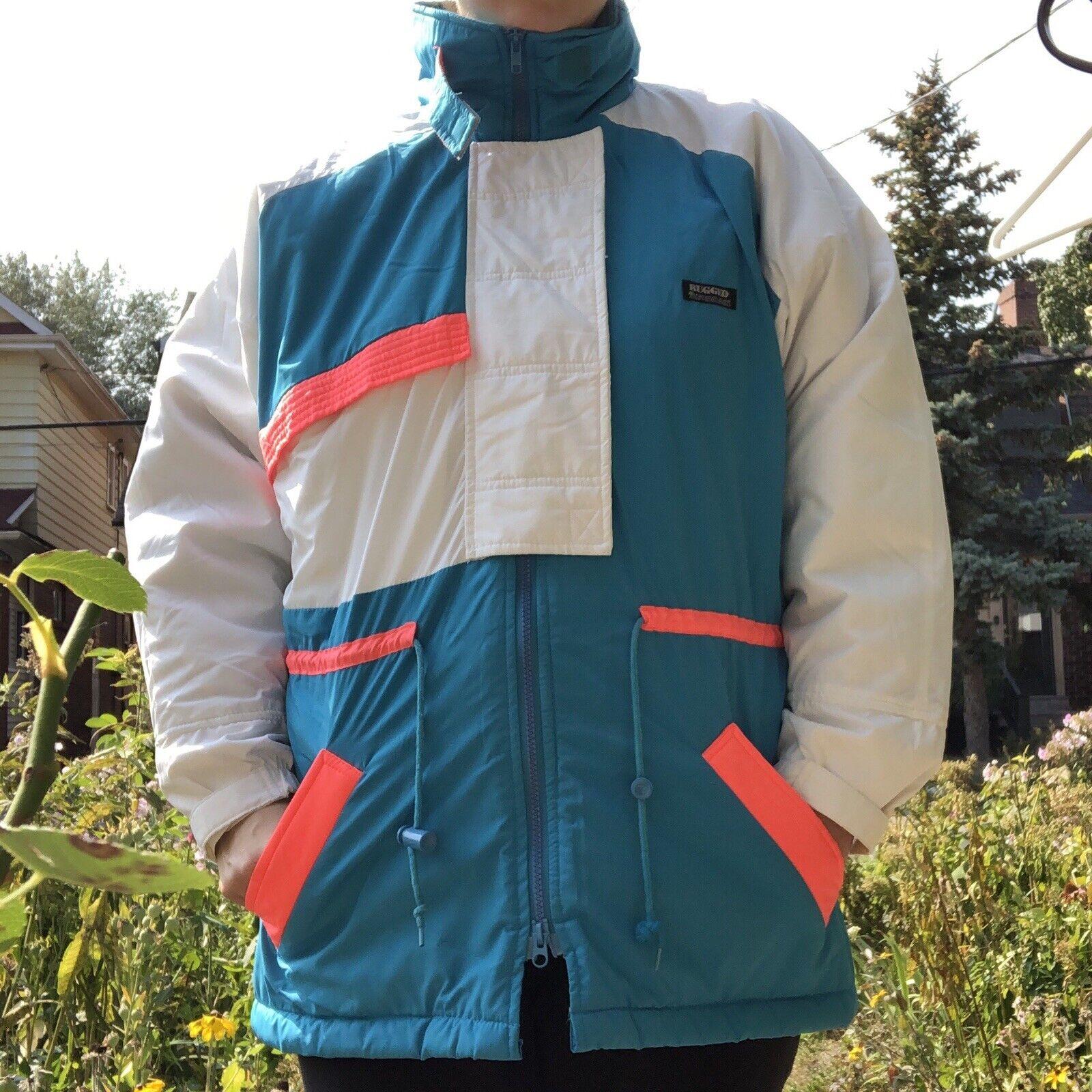 Vintage 90s Ski Multi-color Color Block Jacket Co… - image 1