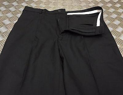 Genuine British Black Wool Mix Police Trousers / Bobby Old Bill Retro All Sizes Weich Und Rutschhemmend