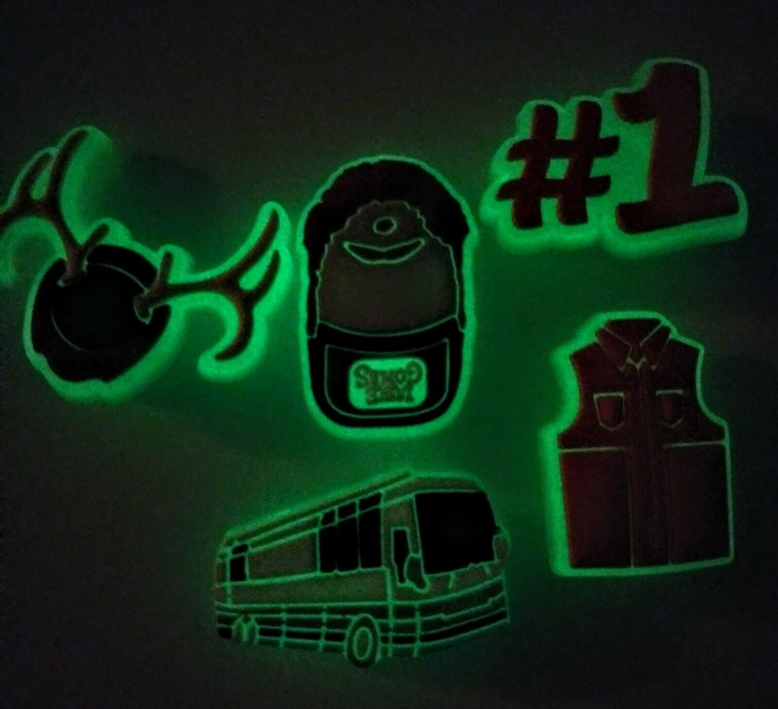 Luke Combs Inspired GLOW DARK Shoe Charms! 5PC Set! NEW! FOR Crocs, Clogs, Craft