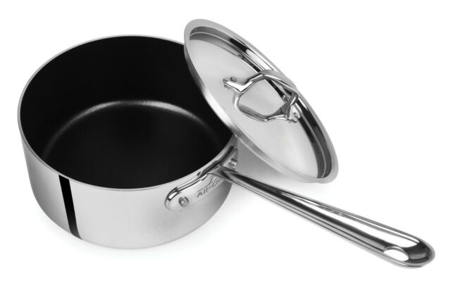 All-Clad Tri-Ply Stainless-Steel Non-Stick 3-qt Sauce Pan with lid