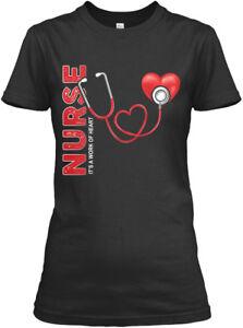Nurse-Its-A-Work-Of-Heart-It-039-s-Gildan-Women-039-s-Tee-T-Shirt
