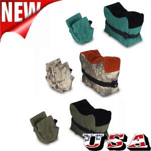 For-Shooting-Gun-Rest-Bag-Set-Front-amp-Rear-Rifle-Target-Hunting-Bench-Bag-Sandbag