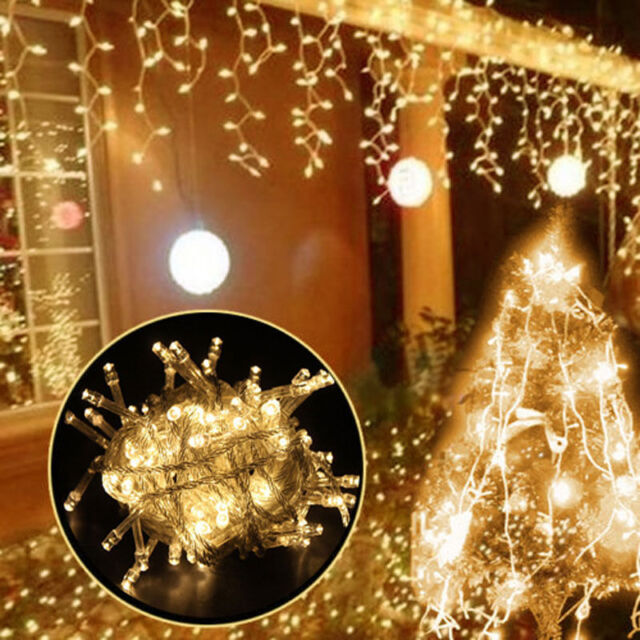 10m 100 led christmas wedding xmas party outdoor decor fairy string light lamp - How To String Lights On A Christmas Tree