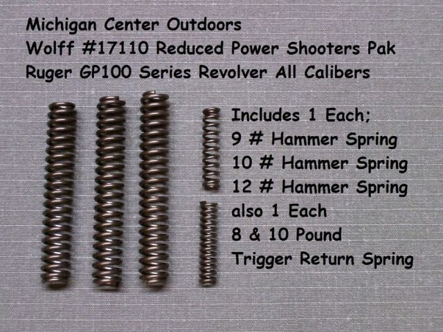 Wolff REDUCED Trigger Pull Spring Kit for Ruger Gp-100 Gp100 Match Champ  W17110