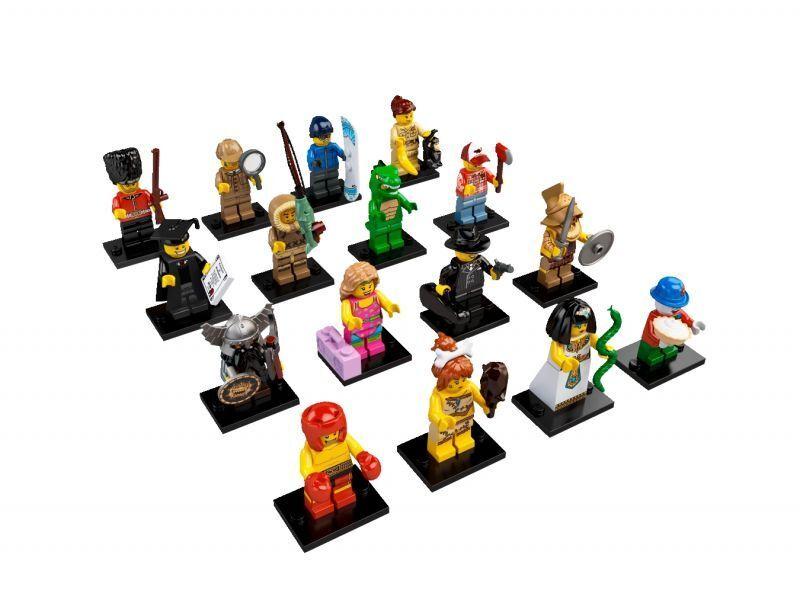 Lego  8805 Minicifras serie 5 da Collezione serie QUASI Completa uomoca Laureato  autorizzazione ufficiale