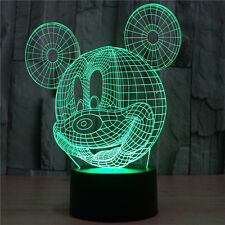 Mickey Mouse 3D LED Night Light 7 Color Change LED Desk Table Light Lamp Gift