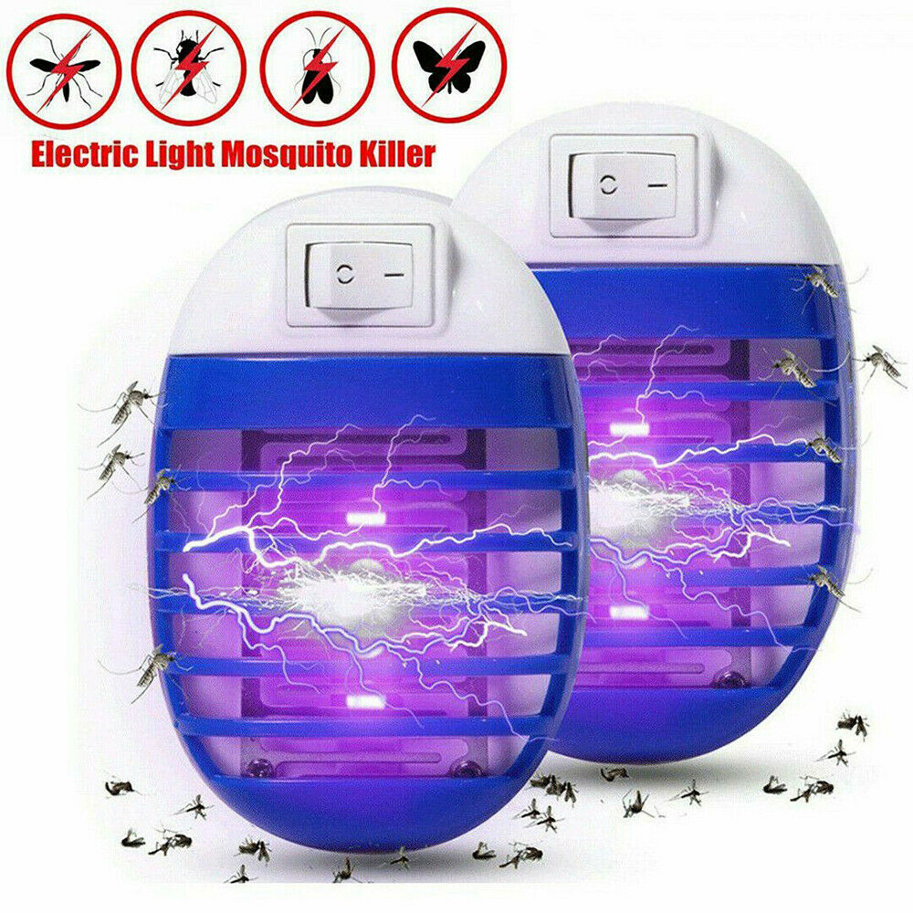 1/2PCS Electric UV Light Bug Trap Catcher Lamp Mosquito Killer Insect Fly Zapper