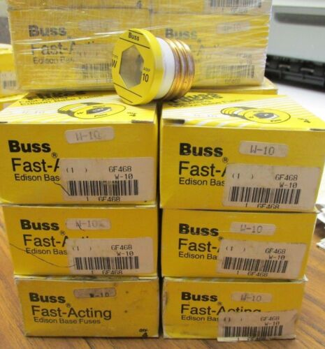 UO-02A * New Lot Of 24 TYPE W  10 AMP Buss Fast-Acting Edison Base Fuses ....