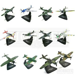 2-Pack-Dueling-Diecast-Model-Planes-1-72-Scale-Atlas-Editions-Hurricane-Stuka