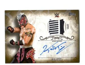 WWE-Kalisto-2016-Topps-Undisputed-GOLD-Autograph-Relic-Card-SN-6-of-10