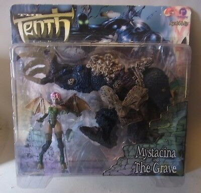 Vtg 90s Resaurus Action Figures The Tenth MYSTACINA AND THE GRAVE OVP 1999