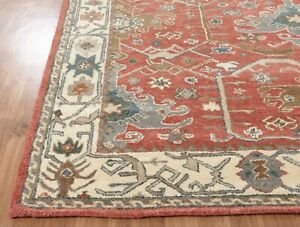 Old-Hand-Made-Traditional-Parsian-Rugs-Oriental-Wool-Red-Area-Rug-amp-Carpet