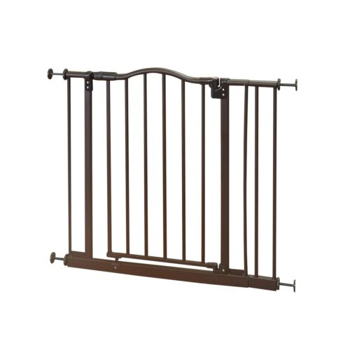 """38.25/"""" wide and is North States Pet Windsor Arch Gate fits openings 28.25/"""""""