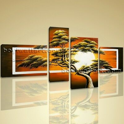 Large Stretched Canvas Prints Feng Shui Abstract Tree Picture Contemporary
