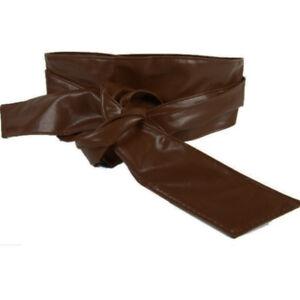 gran inventario oferta especial mirada detallada Detalles de Cinturon Ancho Fajin de Cuero Piel Sintetico para Mujer Varios  Colores