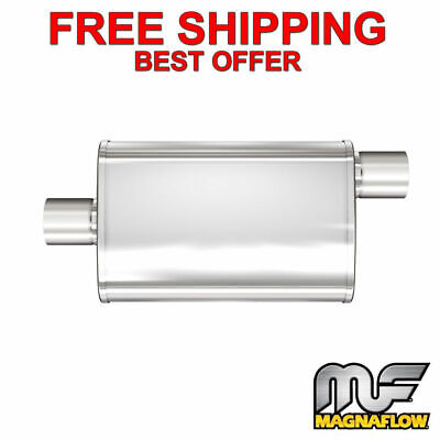 "Magnaflow 13259 XL 3 Chamber Muffler 3/"" Inlet//Outlet 18/"" Body//24/"" Overall Length"