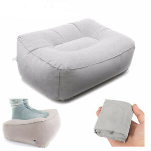 Inflatable-Foot-Rest-Pillow-Cushion-Air-Office-Home-Leg-Up-Footrest-Relax-New