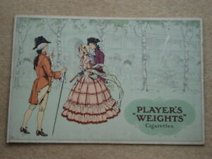 C1930S-PLAYER-039-S-034-WEIGHTS-034-CIGARETTES-GEORGIAN-STREET-PIC-ADVERTISING-CARD-SIGN