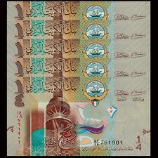 Kuwait 1//4 Dinar UNC 2014 P-29 0.25 Asia  banknotes