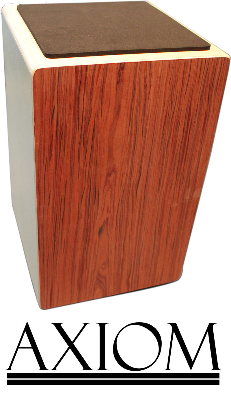Axiom 50cm Full Größe Cajon Wooden Rhythm Box Drum w  Padded Carry Bag - Darkwood