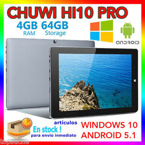 4-64GB-10-1-034-Tableta-PC-Win10-Android-5-1-Chuwi-Hi10-PRO-Quad-Core-2-in-1-Tablet