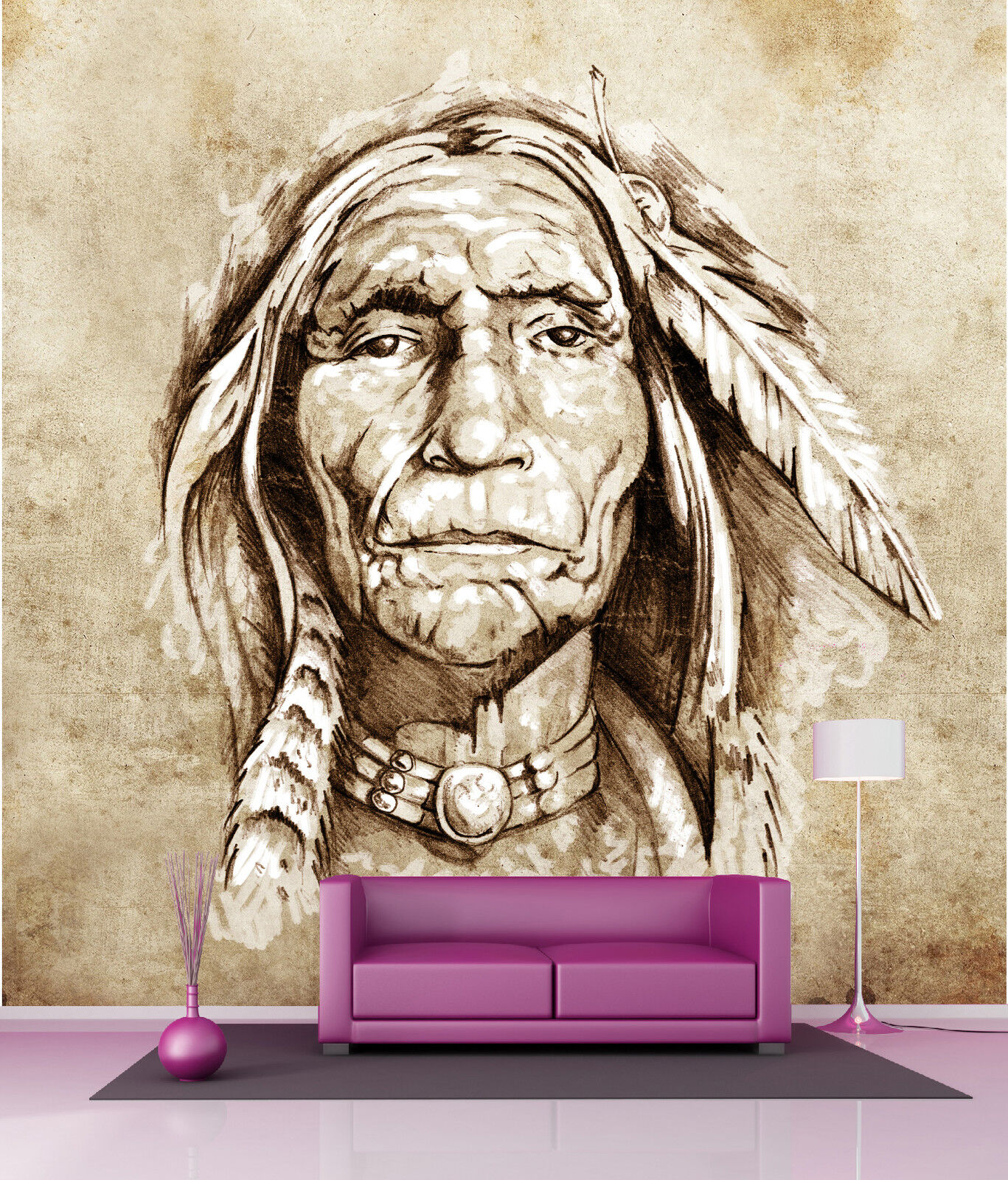 Papel pintado gigante decoración decoración gigante mural Indio ref 4528 9f3e36
