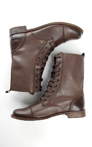 Boxfresh U Joyce Leder-Schuhe Schnürstiefelette Schnürboots Stiefel Boots Biker