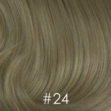 100% Human Hair Long Straight Slightly Wavy Wig Wispy Bangs Lots of Volume Lydia