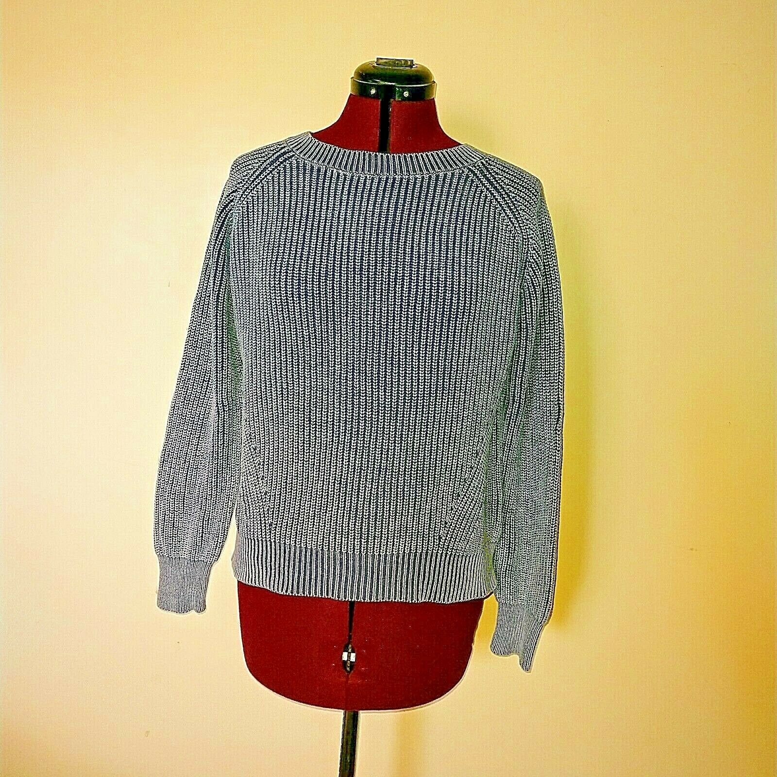 Philosophy Size Medium Sweater Cotton Heathered bluee Womens