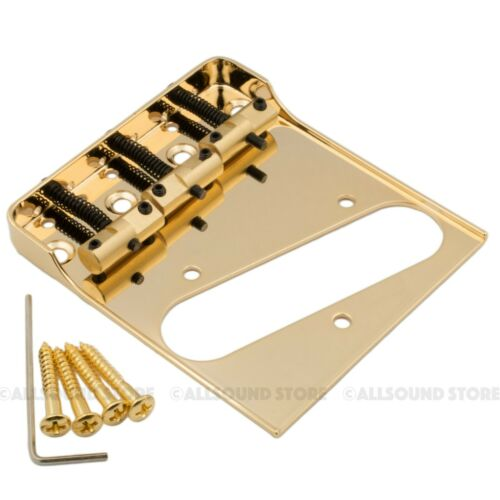 Wilkinson Telecaster Bridge w// Cut-Down Sides /& Compensated Brass Saddles Tele
