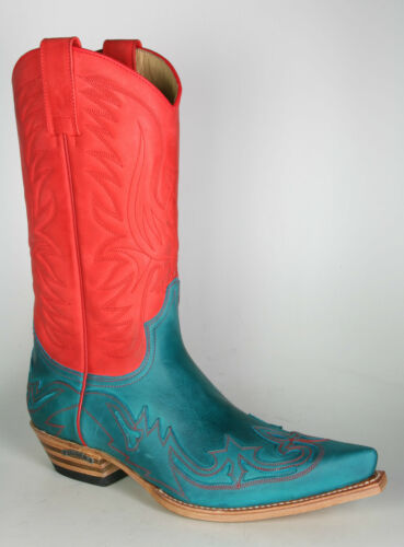 Floter Cowboystiefel Sendra Turquoise Rouge 3241 gHXqIw