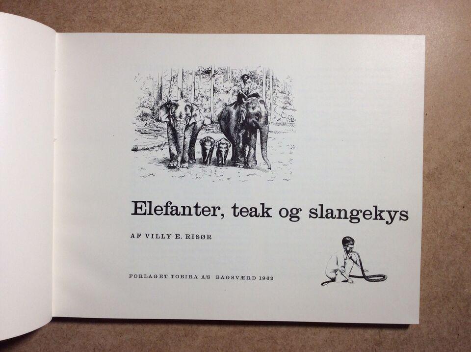 Elefanter, teak og slangekys, Villy E. Risør