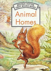 Animal-Homes-by-Beatrix-Potter-very-good-used-condition-illustrated-board-book