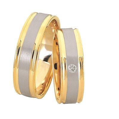 2x Jc Trauringe Eheringe 585 Gold Verlobungsring 14kt. Inkl. Gravur & Etui C067