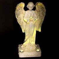 Statue Solar Light Praying Angel 2 Yellow Led Solar Light Powered Outdoor Garden