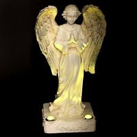 Statue Solar Light Praying Angel 2 Yellow Led Solar Light Powered Outdoor Garden