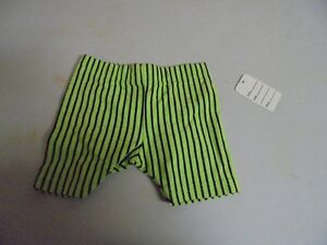 Vintage-Girls-Lime-Green-With-Black-Stripes-Shorts-size-24-Months