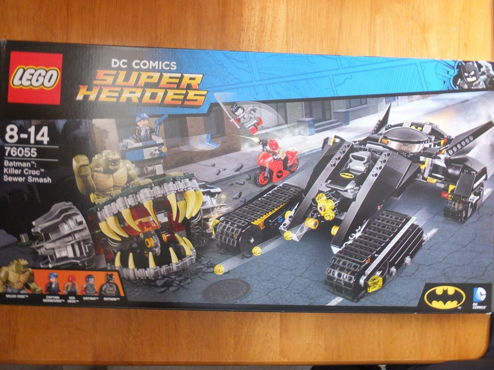 Lego 76055 DC Comics Super Heroes Batman Killer Croc Sewer Sewer Sewer Smash Set 90b89a