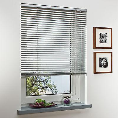 Alu Jalousie Tür Fenster Rollo Jalousette Aluminium Fensterjalousie Silber Weiß