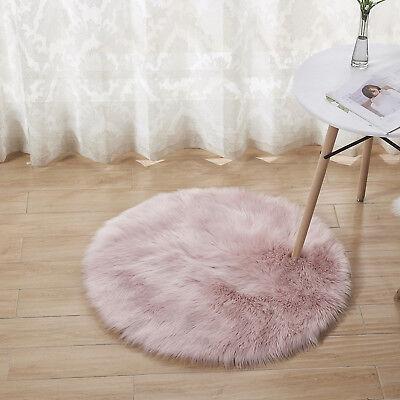 Round Fluffy Rug Gy Floor Mat Soft