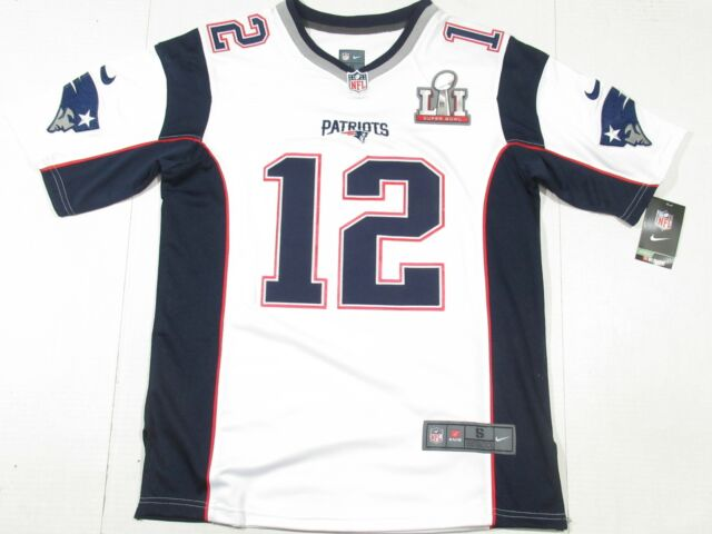 NWT Tom Brady #12 New England Patriots Super Bowl LI 51 Jersey White