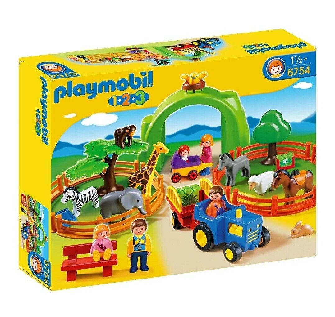6754 Jugarmobil 123 Zoo - tractor - 5 personas - 9 animaleses - monos   ovejas