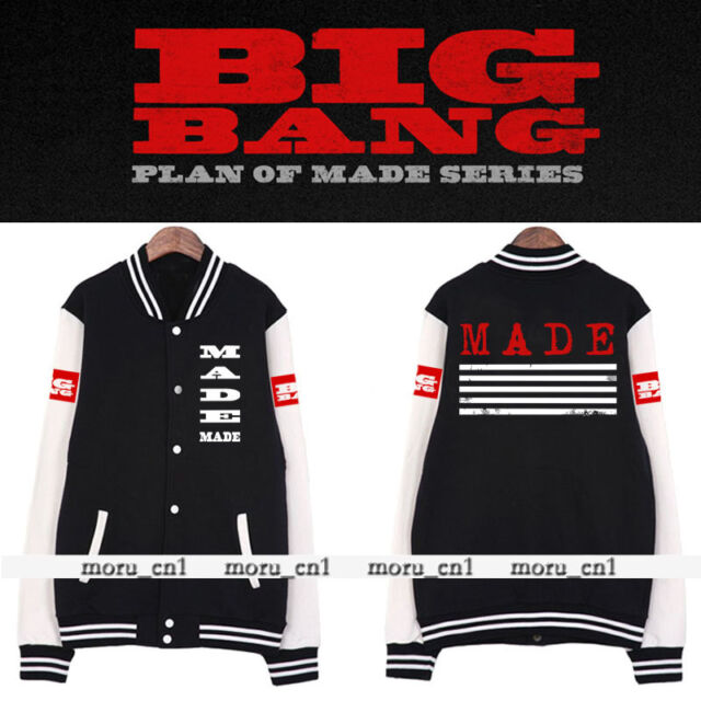 Bigbang G-DRAGON GD MADE TAEYANG 2015 Kpop girl Jacket Cotton New